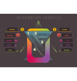 Abstract colourful geometrical infographics vector