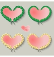 Set of cute hearts on a gray background vector