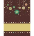 Christmas card with snowflakes eps 8 vector