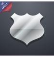 Shield icon symbol 3d style trendy modern design vector