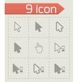 Black cursor icon set vector
