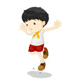 Small child jumping vector