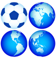 Globes and ball vector
