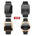 Set of original smart design example wrist watch vector