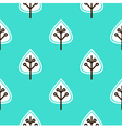 Leaves seamless pattern - blue vector
