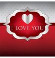 Label love heart cardinvitation in format vector