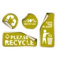 Green label badges vector