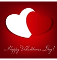 Happy valentines day card with heart vector