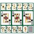 Spade blackjack suit large figures vector