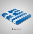 European flags set - greece vector