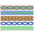 Set of five seamless rhombic patterns vector