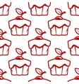 Cherry cupcake seamless pattern vector