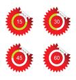 Sticker clock red vector