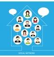 Social network house vector
