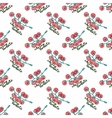 Seamless watercolor pattern with cherry tomatoes vector