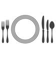 Etiquette proper table setting vector