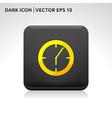 Clock icon gold vector