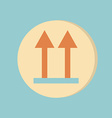 Logistic packing arrow up sign vector