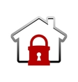 House lock icon vector