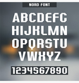 Sans serif font nord vector