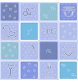 Seamless pattern its a boy background baby boy vector
