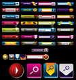 Search and download button vector