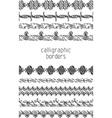 Set of calligraphic borders vector