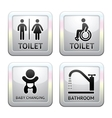 Toilet pictograms vector