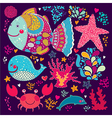 Under the sea design vector