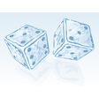 Two ice dices vector
