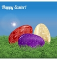 Easter background landscape vector