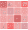 Seamless pattern its a girl background baby girl vector