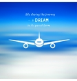 Airplane on a blue sky background vector