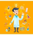 Chemist scientist character vector