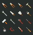 Hand tools icon set flat design vector
