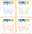 Butterfly coloring vector