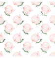 Seamless watercolor pattern with onion on the vector