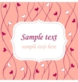 Valentines card background vector