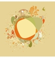 Decorative card with autumn tree and birds eps 8 vector