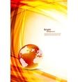 Orange background with globe vector
