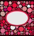 Frame with random colored circles vector