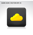 Cloud weather icon gold vector