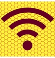 Wi-fi flat modern web button and space for your vector