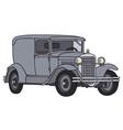 Vintage delivery car vector