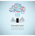 Template design phone angel wings social network vector