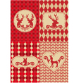 Christmas deers with patterns vector
