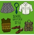 School uniform set vector