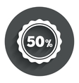 50 percent discount sign icon sale symbol vector