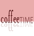 Coffee time sign vector