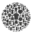 Set of women s and men s clothing icons vector